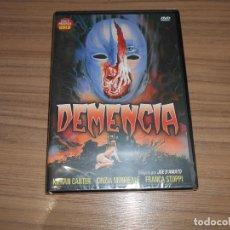 Cine: DEMENCIA DVD DE JOE D'AMATO KIERAN CANTER TERROR NUEVA PRECINTADA. Lote 269216798