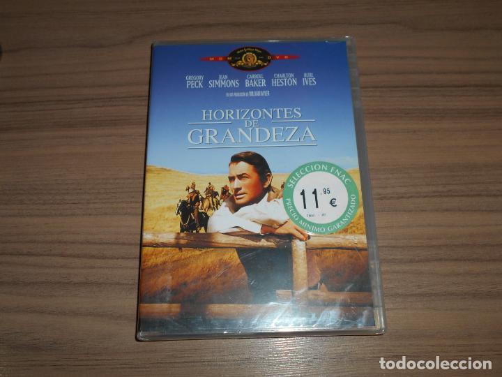 HORIZONTES DE GRANDEZA DVD GREGORY PECK CHARLTON HESTON JEAN SIMMONS NUEVA PRECINTADA (Cine - Películas - DVD)
