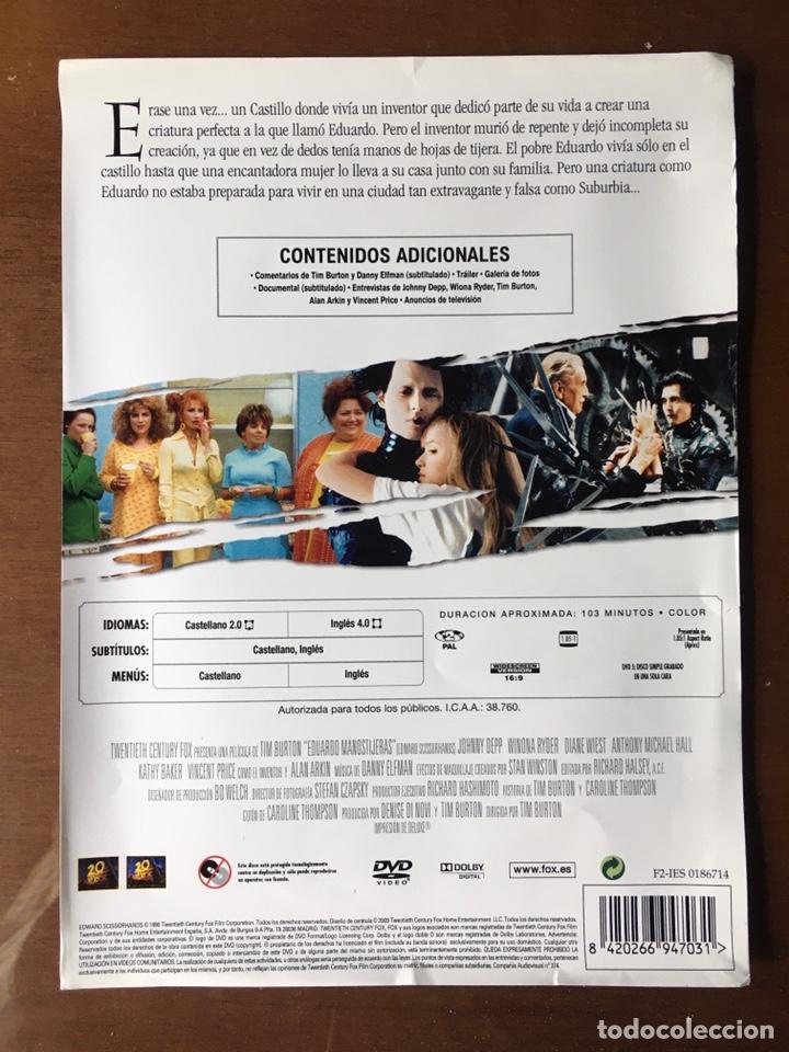 Cine: Pack Eduardo Manostijeras de Tim Burton, con Johnny Depp y Winona Ryder.Edición para coleccionistas. - Foto 3 - 226691340