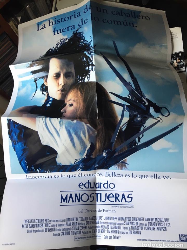 Cine: Pack Eduardo Manostijeras de Tim Burton, con Johnny Depp y Winona Ryder.Edición para coleccionistas. - Foto 10 - 226691340
