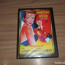 Cine: LOS CONDENADOS NO LLORAN DVD JOAN CRAWFORD NUEVA PRECINTADA. Lote 243591505