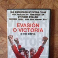 Cine: EVASIÓN O VICTORIA - DIR. JOHN HOUSTON - CON PELÉ MICHAEL CAINE S. STALLONE MAX VON SYDOW. Lote 227951750
