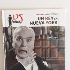 Cinéma: UN REY EN NUEVA YORK / COLECCIÓN CHAPLIN - 125 AÑOS / 10 / LIBRO + DVD - LEVOIR-2015 / PRECINTADO.. Lote 228260910