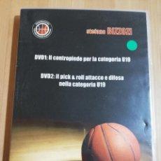 Cine: CONTROPIEDE E PICK & ROLL ATTACCO E DIFESA NELA CATEGORIA U19 (STEFANO BIZZOZI) BASKETBALL DVD. Lote 228962846