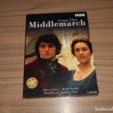 Cine: MIDDLEMARCH EDICION ESPECIAL 3 DVD GEORGE ELIOT 375 MIN. DVD'S COMO NUEVOS. Lote 229226960