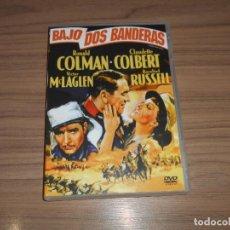 Cinema: BAJO DOS BANDERAS DVD RONALD COLMAN CLAUDETTE COLBERT ROSALIND RUSSELL COMO NUEVA. Lote 229303300