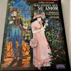 Cine: MÁS FUERTE QUE SU AMOR DVD EL FILM PERDIDO DE GLORIA SWANSON Y RODOLFO VALENTINO EN MURCIA. Lote 230966105