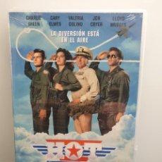 Cinema: HOT SHOTS. DVD NUEVO PRECINTADO. CHARLIE SHEEN, JOHN CRYER, CARY ELWES. Lote 232082550
