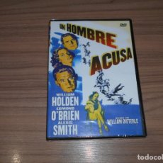 Cine: UN HOMBRE ACUSA DVD WILLIAM HOLDEN EDMOND O'BRIEN ALEXIS SMITH NUEVA PRECINTADA. Lote 289507618