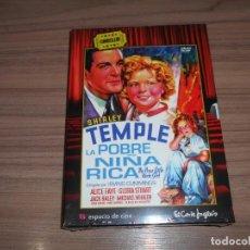 Cine: LA POBRE NIÑA RICA EDICION ESPECIAL DVD + LIBRO 34 PAG. SHIRLEY TEMPLE NUEVA PRECINTADA. Lote 267739734