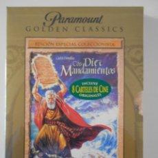 Cine: LOS DIEZ MANDAMIENTOS. DVD DE LA MEMORABLE PELICULA DE CECIL B. DEMILLE. NUEVO ESTRENAR. EDCION COLE. Lote 233810765