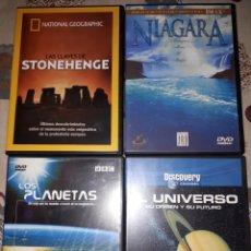 Cine: 4 DVD. LOTE. NIAGARA.STONEHENGE.EL UNIVERSO.LOS PLANETAS. Lote 234040130