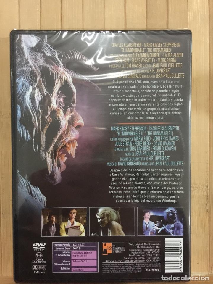Cine: El Innombrable PRIMERA Y SEGUNDA PARTE DVD - Precintado - - Foto 2 - 234907700