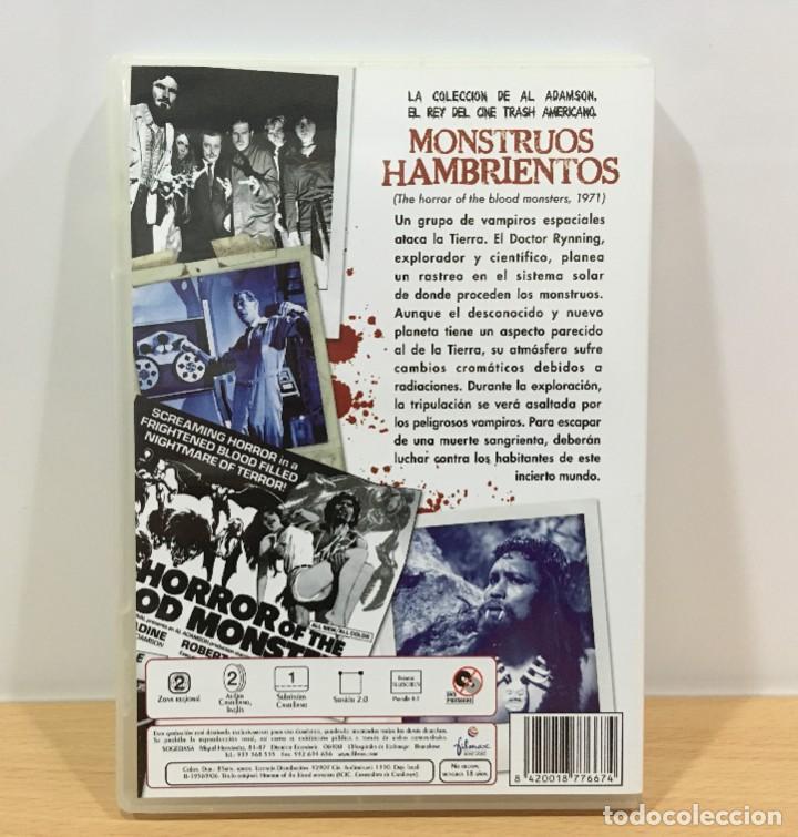 Cine: DVD CINE DE TERROR Y SCI-FI DE AL ADAMSON + 18 - MONSTRUOS HAMBRIENTOS (1970). FILMAX, 2006 - Foto 3 - 234908860