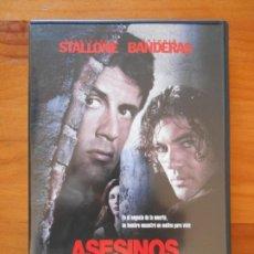 Cine: DVD ASESINOS - SYLVESTER STALLONE, ANTONIO BANDERAS (5E). Lote 235071495