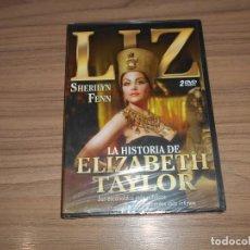 Cine: LA HISTORIA DE ELIZABETH TAYLOR EDICION ESPECIAL 2 DVD 210 MIN. SHERILYN FENN NUEVA PRECINTADA. Lote 235918720