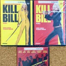 Cine: LOTE 3 DVD PRECINTADOS DE QUENTIN TARANTINO - KILL BILL 1 Y 2 RESERVOIR DOGS - UMA THURMAN NUEVO. Lote 236058215