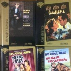 Cine: LOTE 5 DVD + LIBRO PELICULA - CASABLANCA REBELDE SIN CAUSA LOS HERMANOS MARX - EL PAIS CINE DE ORO. Lote 236173740