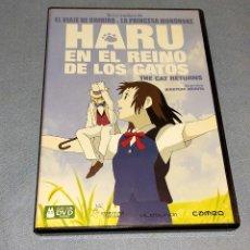 Cine: DVD HARU EN EL REINO DE LOS GATOS DE HIROYUKI MORITA STUDIO GHIBLI ORIGINAL MANGA ANIME. Lote 236236995