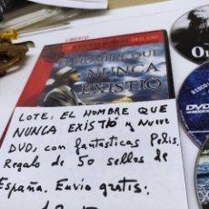 Cine: 10 DVD. EL HOMBRE QUE NUNCA EXISTIÓ, Y NUEVE MÁS.. Lote 236246595