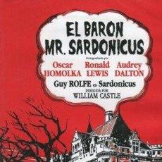 Cine: EL BARON SARDONICUS DIRECTOR: WILLIAM CASTLE ACTORES: RONALD LEWIS, AUDREY DALTON, GUY ROLFE. Lote 236247105