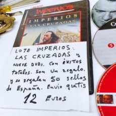 Cine: DVD TOTAL DIEZ, IMPERIOS, LAS CRUZADAS Y OTROS MÁS.. Lote 236247815