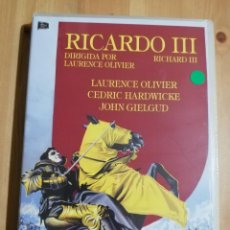 Cine: RICARDO III (DIRIGIDA POR LAURENCE OLIVIER) DVD PRECINTADO. Lote 236270715