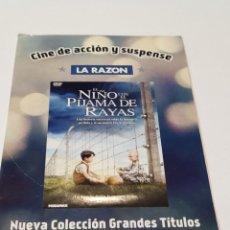 Cinema: EL NIÑO DE PIJAMA A RAYAS. FUNDA DE CARTÓN.. Lote 236563085