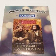 Cinema: EL INDOMABLE WILL HUNTING. FUNDA DE CARTÓN.. Lote 236567505