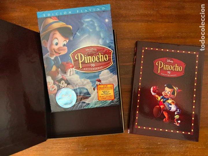 Cine: EDICIÓN 70º ANIVERSARIO COLECCIONISTA PINOCHO DE DISNEY LIBRO Y DVD MUY DIFÍCIL DE ENCONTRAR - Foto 3 - 236761790