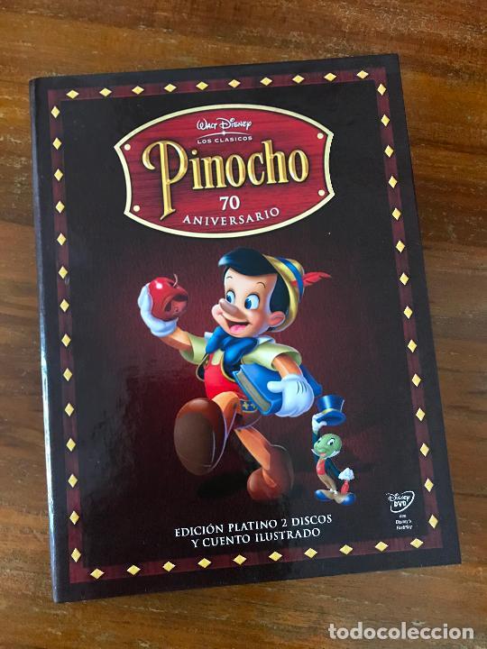 EDICIÓN 70º ANIVERSARIO COLECCIONISTA PINOCHO DE DISNEY LIBRO Y DVD MUY DIFÍCIL DE ENCONTRAR (Cine - Películas - DVD)