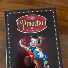 Cine: EDICIÓN 70º ANIVERSARIO COLECCIONISTA PINOCHO DE DISNEY LIBRO Y DVD MUY DIFÍCIL DE ENCONTRAR. Lote 236761790