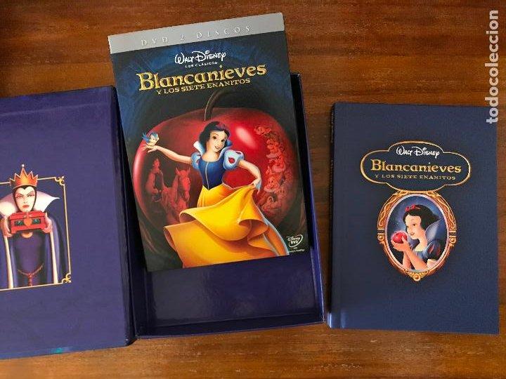 Cine: DVD BLANCANIEVES Y LOS 7 ENANITOS DE DISNEY CON LIBRO Y DVD EDICIÓN COLECCIONISTAS - Foto 2 - 236762315