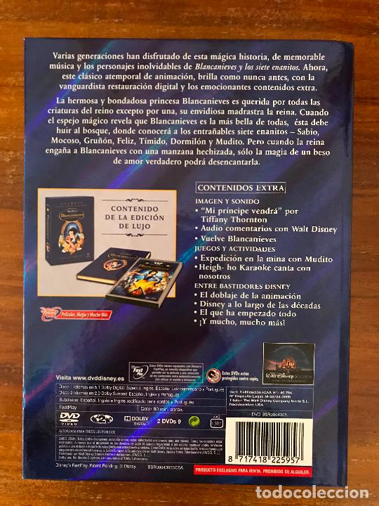 Cine: DVD BLANCANIEVES Y LOS 7 ENANITOS DE DISNEY CON LIBRO Y DVD EDICIÓN COLECCIONISTAS - Foto 3 - 236762315