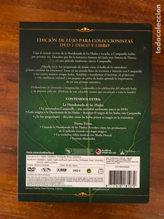 Cine: DVD PELÍCULA CAMPANILLA DE DISNEY EDICIÓN COLECCIONISTA LIBRO Y DVD - Foto 3 - 236764880