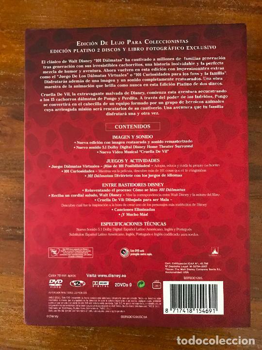 Cine: DVD 101 DÁLMATAS DE DISNEY EDICIÓN COLECCIONISTAS LIBRO Y DVD - Foto 2 - 236765315