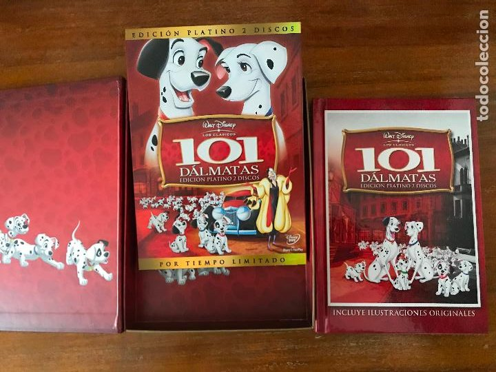 DVD 101 DÁLMATAS DE DISNEY EDICIÓN COLECCIONISTAS LIBRO Y DVD (Cine - Películas - DVD)