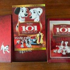 Cine: DVD 101 DÁLMATAS DE DISNEY EDICIÓN COLECCIONISTAS LIBRO Y DVD. Lote 236765315