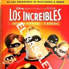 Cine: DVD - PELICULA -LOS INCREIBLES - EDICIÓN ESPECIAL 2 DISCOS. Lote 236893060