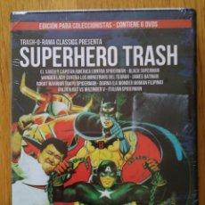 Cinema: SUPERHERO TRASH. PACK 6 DVDS. NUEVO ! PRECINTADO ! COLECCIÓN TRASH O RAMA. Lote 252266715