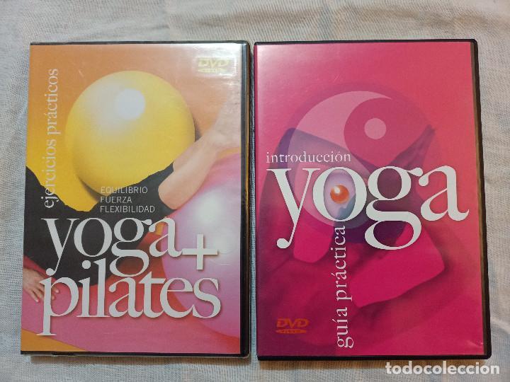 YOGA.PILATES.DVD.GUIA PRACTICA.EJERCICIOS.LOTE.SALUD.CUERPO.MENTE. (Cine - Películas - DVD)