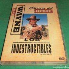 Cine: DVD LOS INDESTRUCTIBLES - CLÁSICOS DEL OESTE (UN SOLO PASE) PERFECTO ESTADO!. Lote 237847935