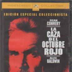 Cinema: LA CAZA DEL OCTUBRE ROJO 7 CON SEAN CONNERY Y ALEC BALDWIN / DVD VIDEO RF-1708. Lote 238685120