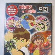 Cine: DVD CARTOON NETWORK HEROES EN ACCION BEN 10 BAKUGAN. Lote 239964360
