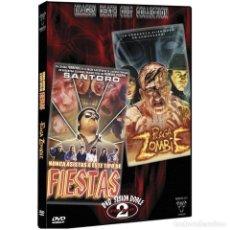 Cine: PLAGA ZOMBIE + NUNCA ASISTAS A ESTE TIPO DE FIESTAS - DVD SESIÓN DOBLE. Lote 240164315