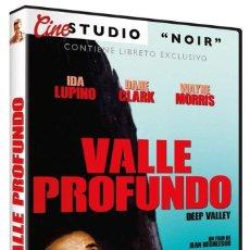 Cine: VALLE PROFUNDO (IDA LUPINO, DANE CLARK) + LIBRETO, CINE NEGRO - DVD NUEVO Y PRECINTADO. Lote 288606878