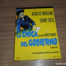 Cine: LA CHICA DEL GOBIERNO EDICION ESPECIAL DVD + LIBRO 24 PAG. OLIVIA DE HAVILLAND NUEVA PRECINTADA. Lote 262418300