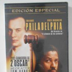Cine: PHILADELPHIA. EDICION ESPECIAL. 2 DISCOS. DVD DE LA PELICULA DE TOM HANKS Y DENZEL WASHINGTON.. Lote 242859240