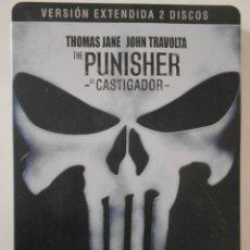 Cine: THE PUNISHER. EL CASTIGADOR. VERSION EXTENDIDA 2 DISCOS. ESTUCHE METALICO. DVD DE LA PELICULA DE THO. Lote 242864690