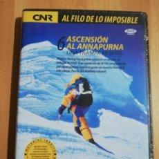Cine: ASCENSIÓN AL ANNAPURNA. UNA TRAMPA MORTAL (AL FILO DE LO IMPOSIBLE Nº 6) DVD PRECINTADO. Lote 243308400